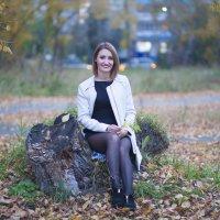 Вечер в центре города))) Кусочек осени! :: Nadezda Pushkareva
