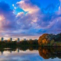 Закат на пруду :: Дмитрий Батынин