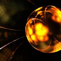 Фрактальное изображение золотого шара :: valery60