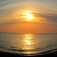 """Адлер. Закат над морем (в режиме """"рыбий глаз"""") :: Нина Бутко"""
