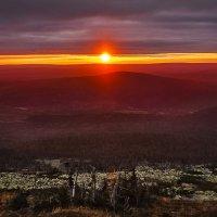 Закат на горе Ослянка. :: Вячеслав Ложкин