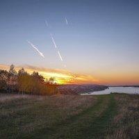 Закат на реке в октябре :: Владимир Макаров