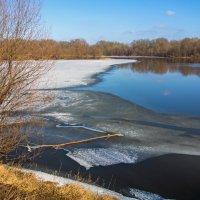 Весна. Последний лёд на реке :: Дубовцев Евгений