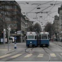 Свидание трамваев № 2 . :: Игорь Абламейко