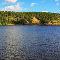 Скалистый берег Волги поросший лесом :: Сергей Тагиров