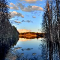 Карелия. Река Саркойоки весной. :: Владимир Ильич Батарин