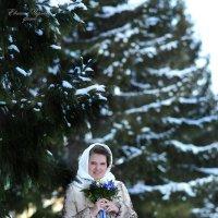 Юля, первый снег :: Евгения Чернова