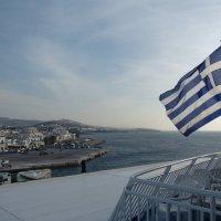 Вид с корабля на остров Андрос. :: Оля Богданович