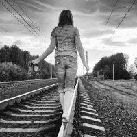 на железной дороге :: Светлана Орешко