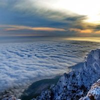 Закат над облаками. :: Ольга Голубева