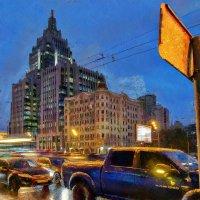 Московский вечер: блеск высоток и гул машин :: Ирина Данилова