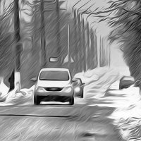 Скользкая дорога. Аэрография. :: Фотогруппа Весна.