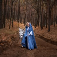 Little Blue Riding Hood :: Олеся Еремеева