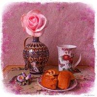 Чай и рулетики с корицей :: Nina Yudicheva