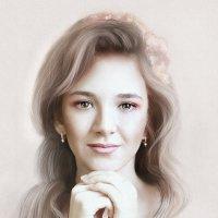 нежный женский образ в стиле портретов австралийской художницы Бек Уиннел :: Юлия Рамелис