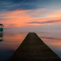 Мост,беседка и рассвет... :: Roman Lunin