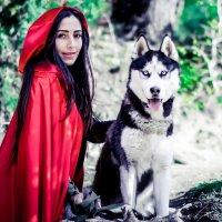 Красная шапочка и серый волк :: Марина Алексеева