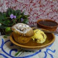 кекс с мороженным и чаем :: Дмитрий Гринкевич