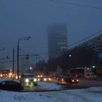 Вечерний туман в Москве :: Андрей Лукьянов