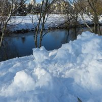 Река, снежные берега! :: Ирина Олехнович
