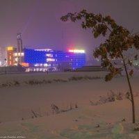 Заснеженным ,ноябрьским вечером в Дубне. :: Виктор Евстратов