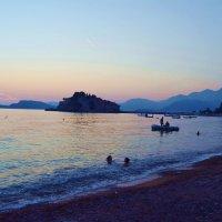 Ядранское  ( Адриатическое ) море. Закат  в Свети Стефан. :: АЛЕКС