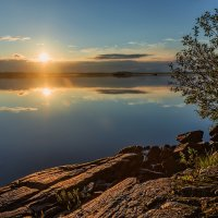 Закат над озером. :: Sven Rok