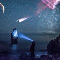 Космос, Автопортрет. :: Виталий Близень