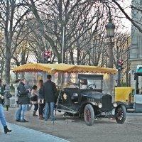 Зимний Париж . Кафе на колесах из 19 века ! :: Виталий Селиванов