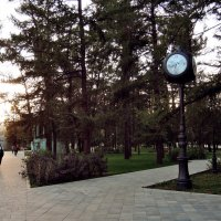 Девушка и часы в парке :: Денис Масленников