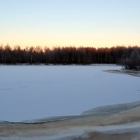 Зимнее озеро. 7км от города Северодвинска. :: Михаил Поскотинов