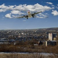 На посадку. За спиной аэропорт. :: Anatol Livtsov