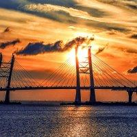 Вантовый мост над Корабельным фарватером :: Александр Скибицкий