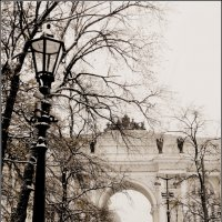 Фонарь, дерево, арка... :: Galina Belle