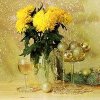 Новый год и хризантемы :: alfina