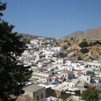 Греция. Вид на город Линдос от стен древнего акрополя. :: Лариса (Phinikia) Двойникова