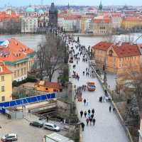 Вид на Карлов мост с Малостранской башни. Прага :: Наталья Казанцева
