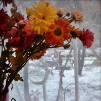 """А за окном - то дождь, то снег..."" :: Нина Корешкова"