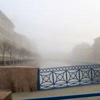 туманное утро с Синего моста на Мойке :: Елена