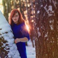 Зимний закат в лесу :: Яна Минская