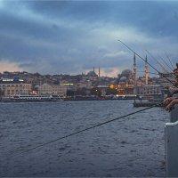 На Галатском мосту в Стамбуле :: Ирина Лепнёва
