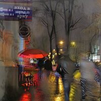 Красный зонтик у входа в арку :: Ирина Сивовол