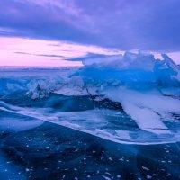 Рассвет на зимнем Байкале у мыса Верхнее Изголовье. :: Slava Sh