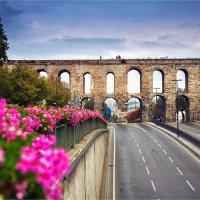 Римский акведук Валента в Стамбуле и проспект Ататюрка :: Ирина Лепнёва