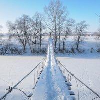 Висячий мостик через реку Дему :: Сергей Тагиров