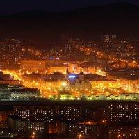 Чита в золоте вечерних огней. Вид на центр города с Титовской сопки. :: Александр Киргизов