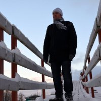 И я на мосту... Деревня Шихириха, у Северодвинска. :: Михаил Поскотинов