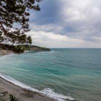 Вид на пляж в Ольгинке :: Алексей Лейба