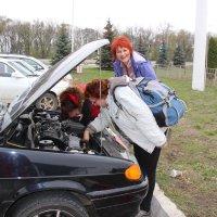 Девушка-водитель и её помощницы :: Светлана Попова