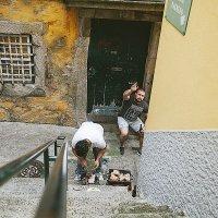 Португальцы жарят шашлыки прямо в центр города :: Светлана Коклягина